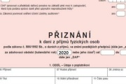 Upozornění k tiskopisům daňového přiznání podávaným za část roku 2020