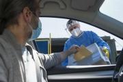 Volby z auta pro lidi nakažené či v karanténě probíhají dnes posledního září od sedmi ráno do tří odpoledne